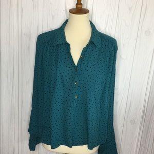 Billabong teal blouse